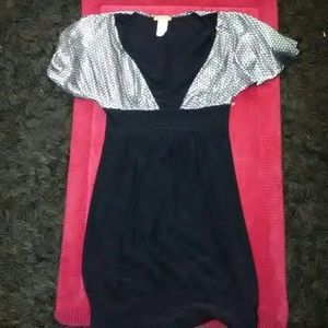 Dresses & Skirts - Black with Silver short dress